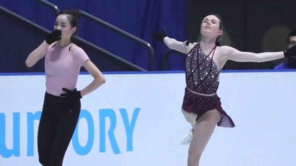 Mariah Bell And Lim Eun-Soo practicing in Saitiama Japan
